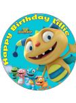 7.5 Henry Hugglemonster Personalised Edible Icing or Wafer Cake Top Topper